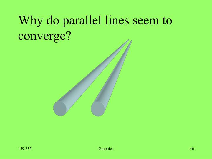 Why do parallel lines seem to converge?