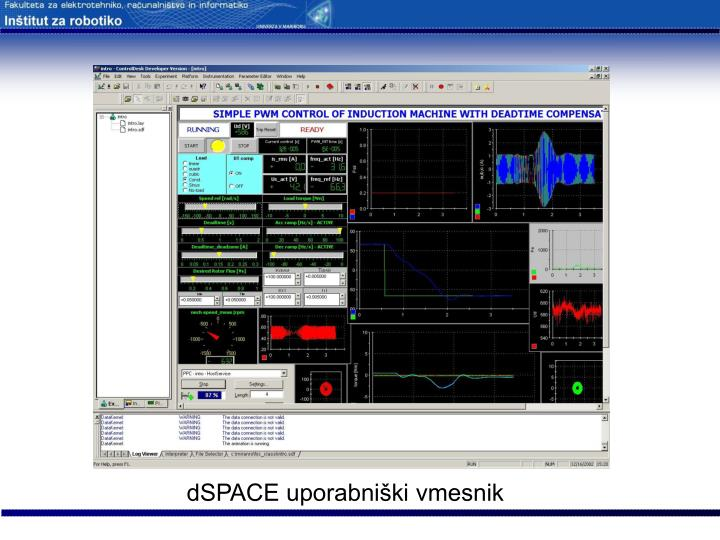 dSPACE uporabniški vmesnik