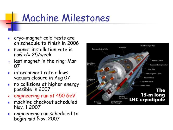 Machine milestones