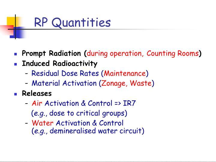 RP Quantities