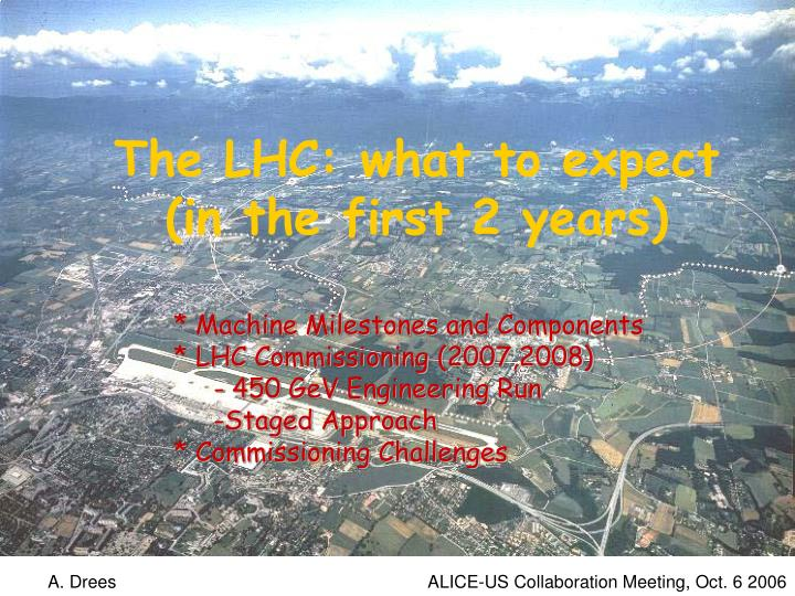 The LHC: what to expect