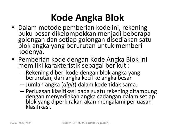 Kode Angka Blok