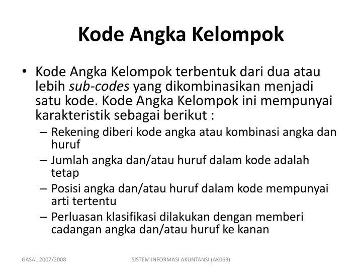 Kode Angka Kelompok