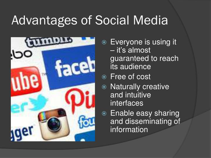 advantages of using social media in business Social media changes all the time, so it's important to keep up with the evolution of the platforms and to keep looking for ways to optimize your use of the available the tools.