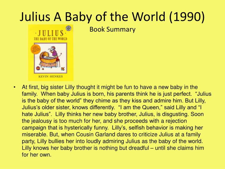 Julius A Baby of the World (1990)