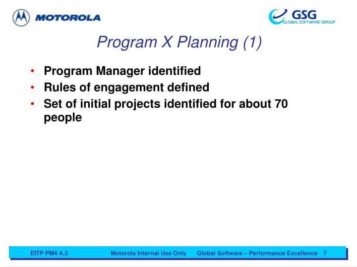 Program X Planning (1)