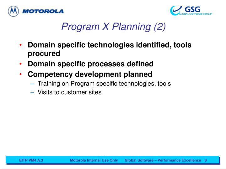 Program X Planning (2)
