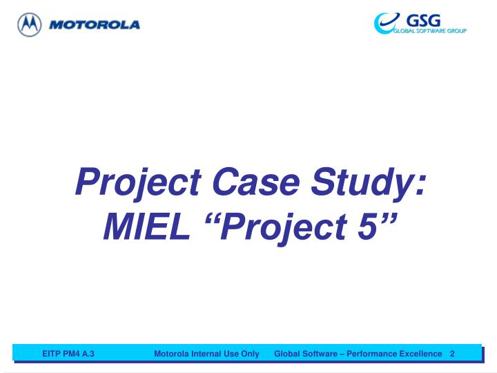 Project Case Study: