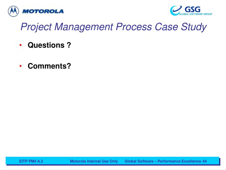 Project Management Process Case Study