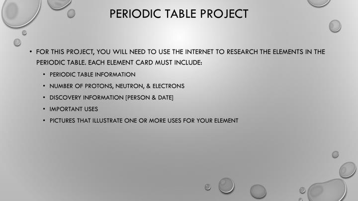 Periodic table project1