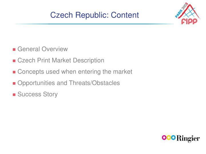 Czech Republic: Content