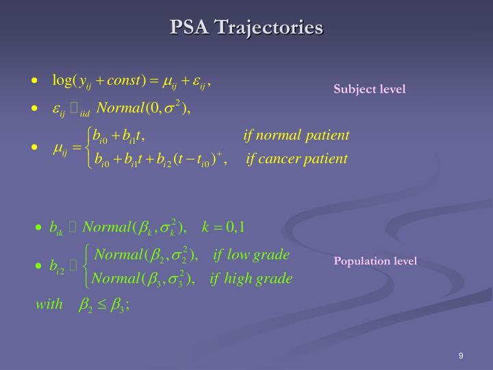 PSA Trajectories