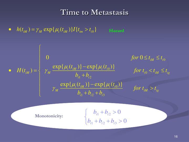 Time to Metastasis