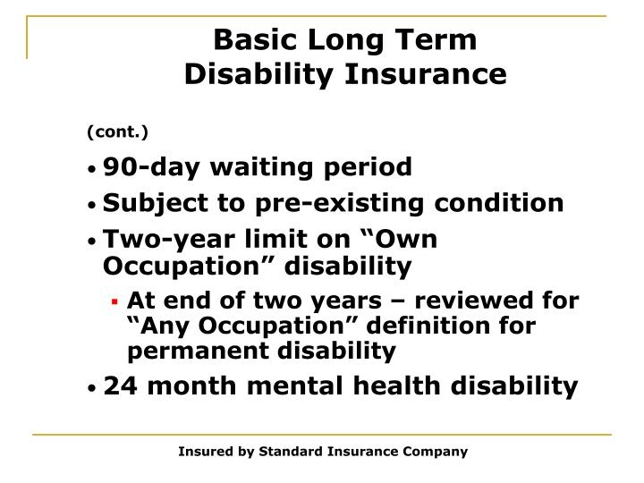 Basic Long Term Disability Insurance
