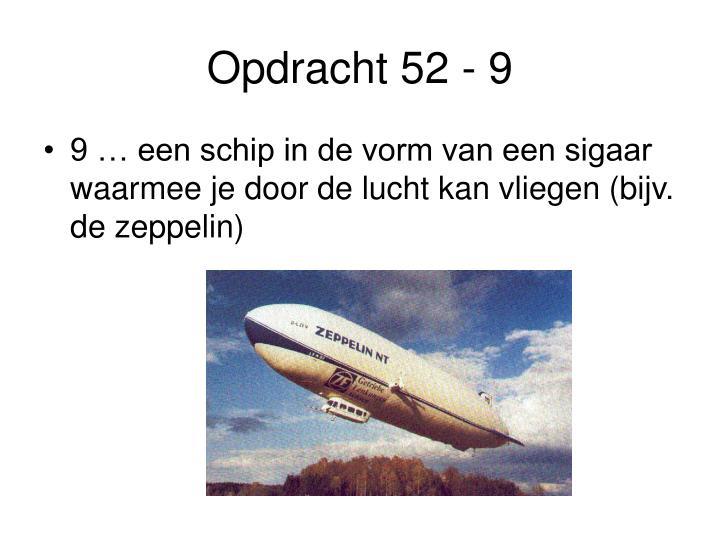 Opdracht 52 - 9