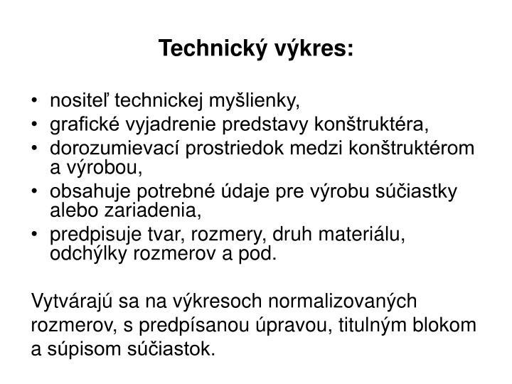 Technický výkres: