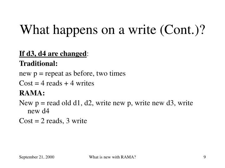 What happens on a write (Cont.)?