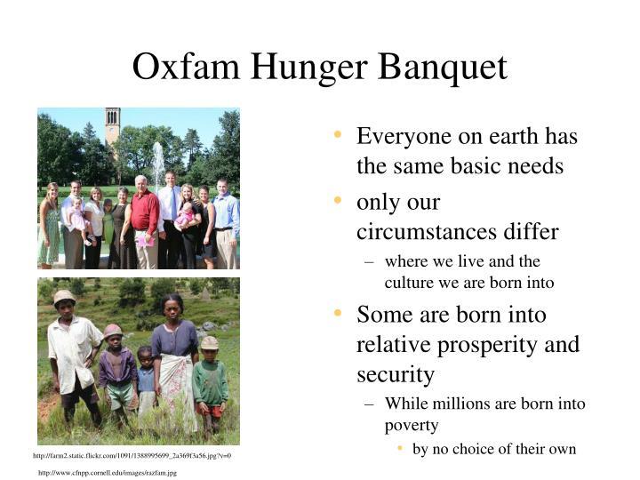 Oxfam Hunger Banquet