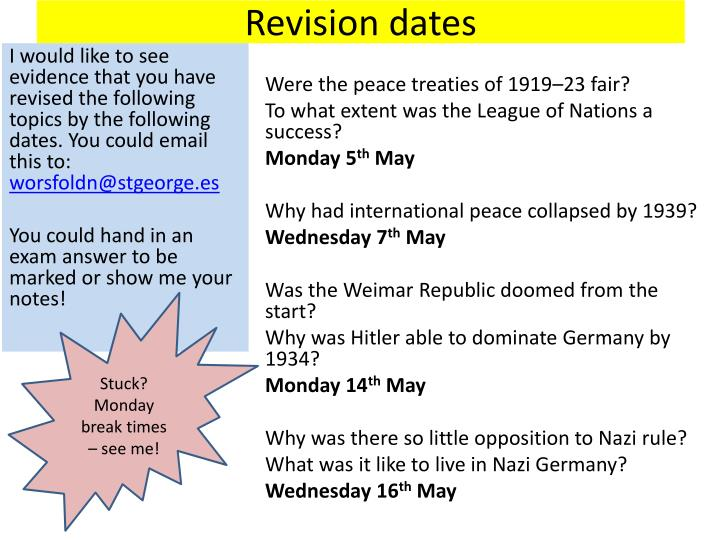 Revision dates