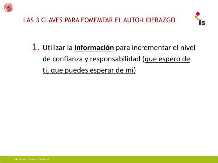 LAS 3 CLAVES PARA FOMEMTAR EL AUTO-LIDERAZGO
