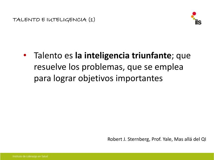 TALENTO E IUTELIGENCIA (1)