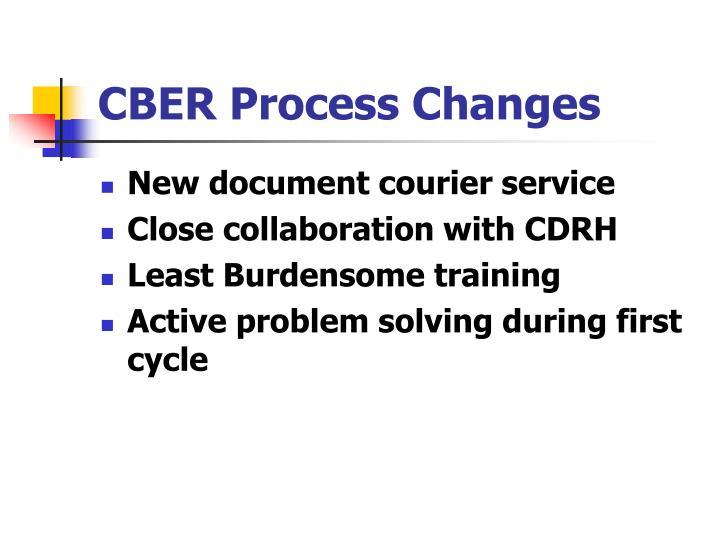 CBER Process Changes