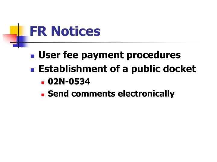 FR Notices