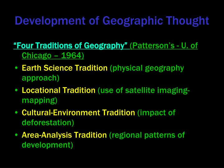 Development of Geographic Thought