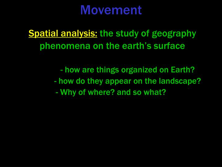 Spatial analysis: