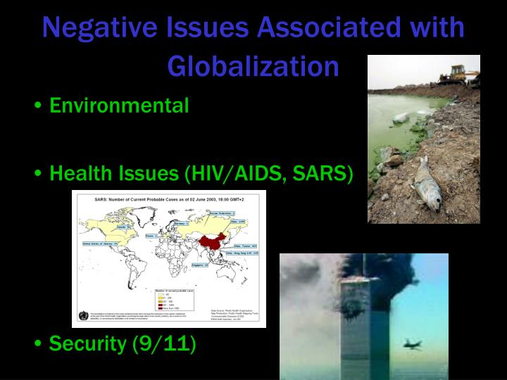 Negative Issues Associated with Globalization