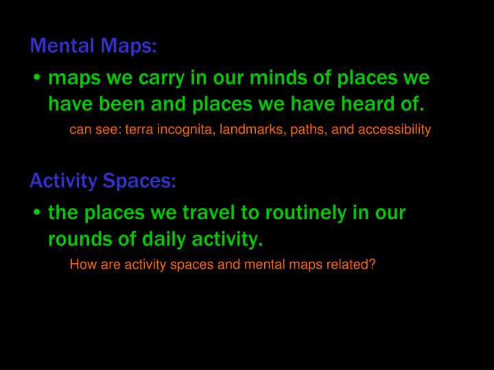 Mental Maps: