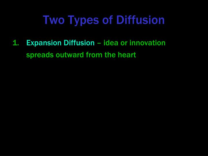 Two Types of Diffusion