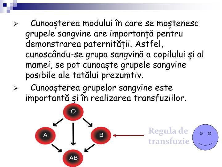 Regula de transfuzie