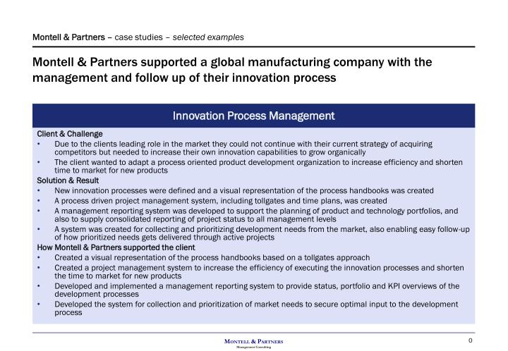 Montell & Partners supported a global manufacturing company with the management and follow up of the...