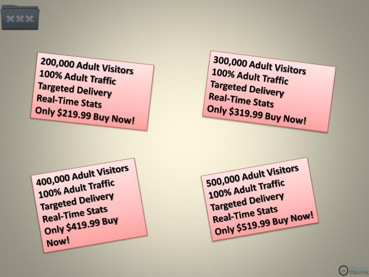 200,000 Adult Visitors