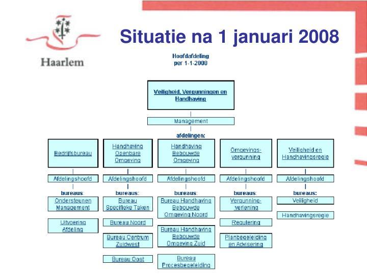 Situatie na 1 januari 2008