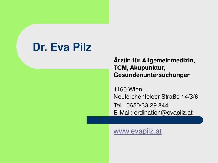 Dr. Eva Pilz