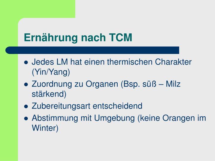 Ernährung nach TCM