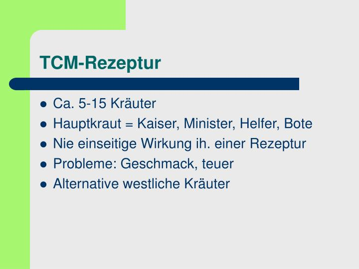 TCM-Rezeptur