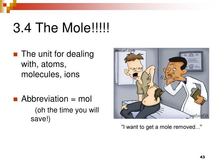 3.4 The Mole!!!!!