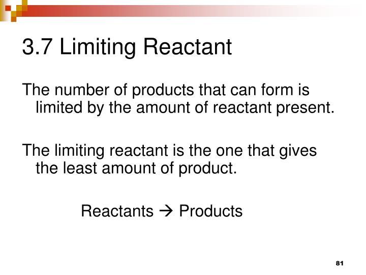 3.7 Limiting Reactant