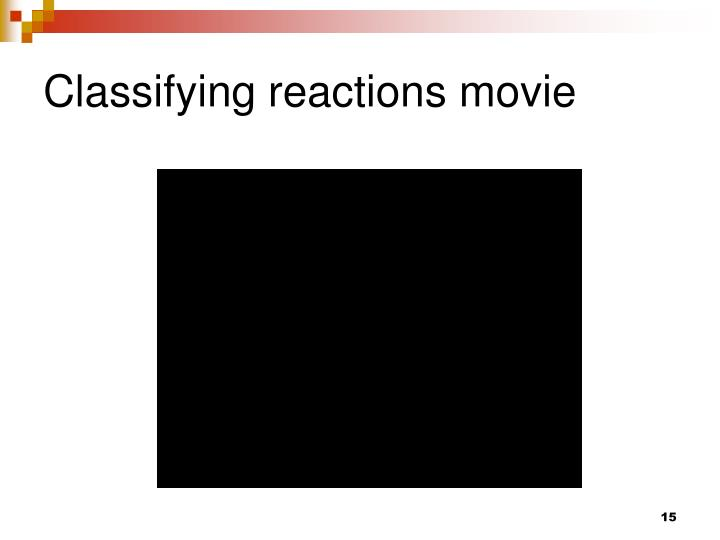 Classifying reactions movie