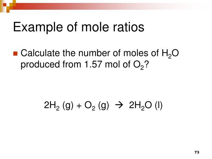 Example of mole ratios
