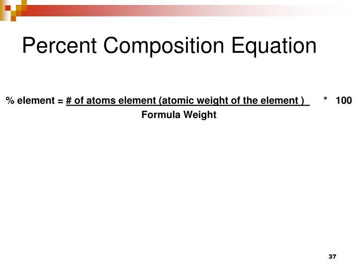 Percent Composition Equation