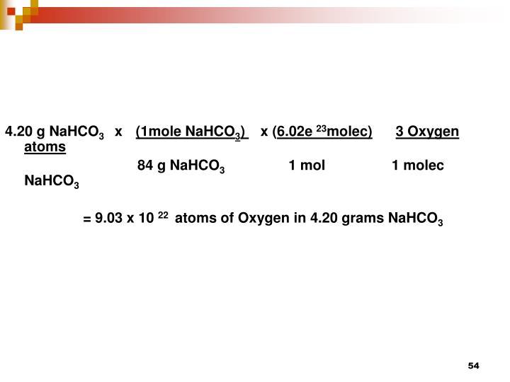 4.20 g NaHCO