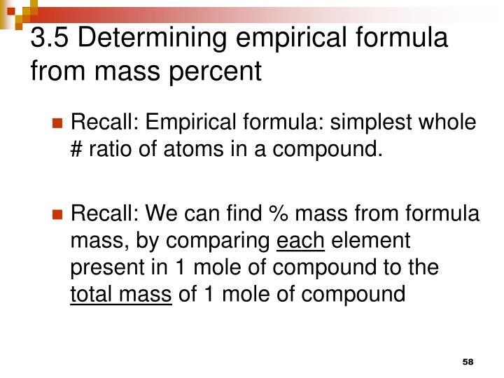 3.5 Determining empirical formula from mass percent