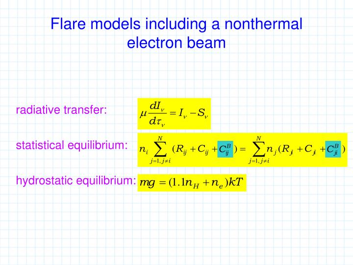 Flare models including a nonthermal electron beam