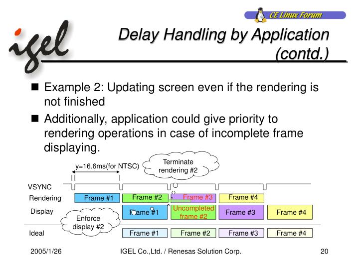 Delay Handling by Application (contd.)