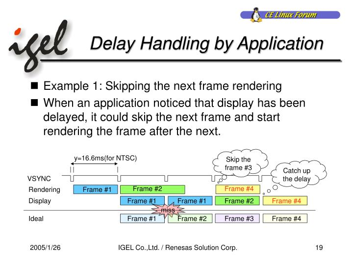 Delay Handling by Application