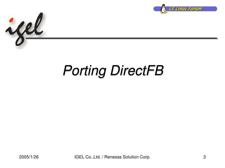 Porting DirectFB